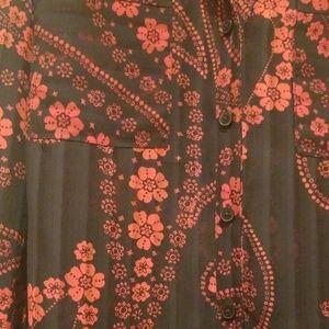 Express Tops - Express Portofino Shirt Floral Small